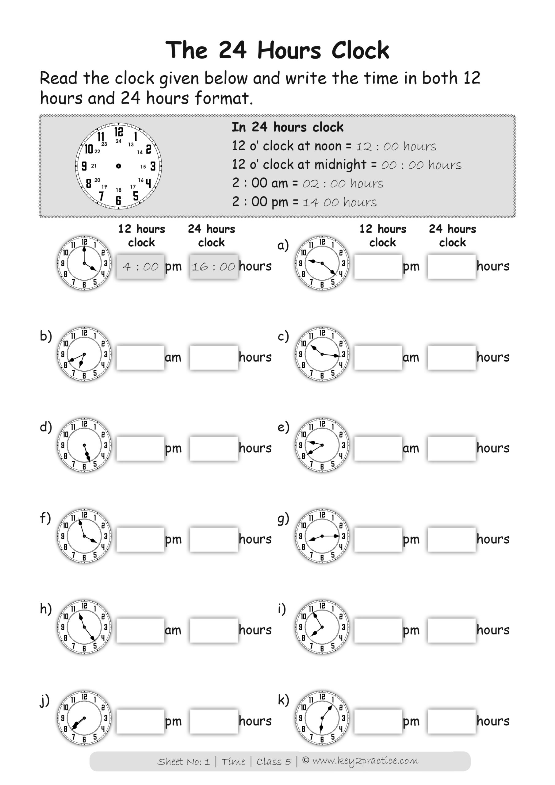hight resolution of Time worksheets Grade 5 I Maths - key2practice Workbooks
