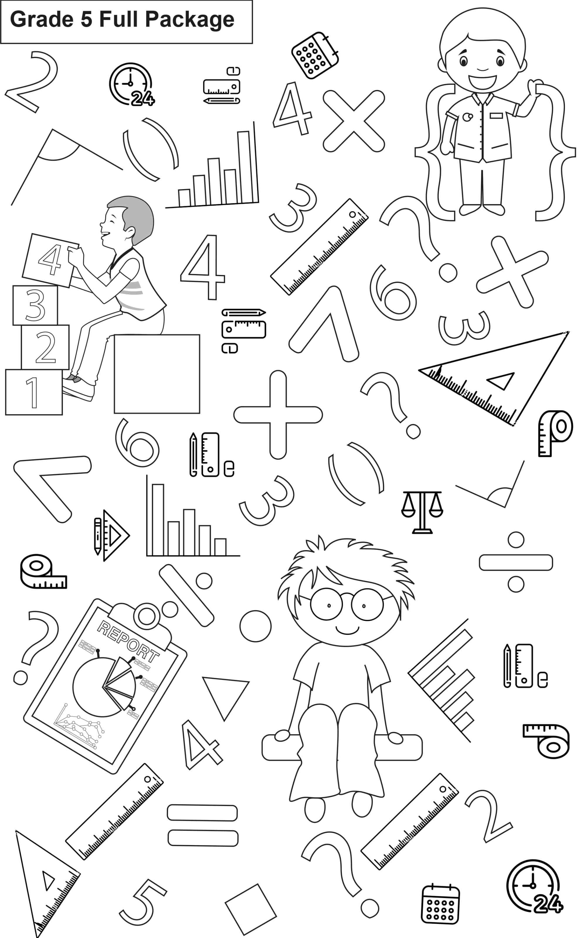 hight resolution of Maths Worksheets I Package of 13 Workbooks I Grade-5 - key2practice