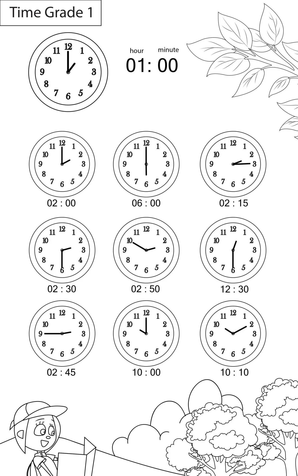 Maths Worksheets Grade 1 Chapter Time