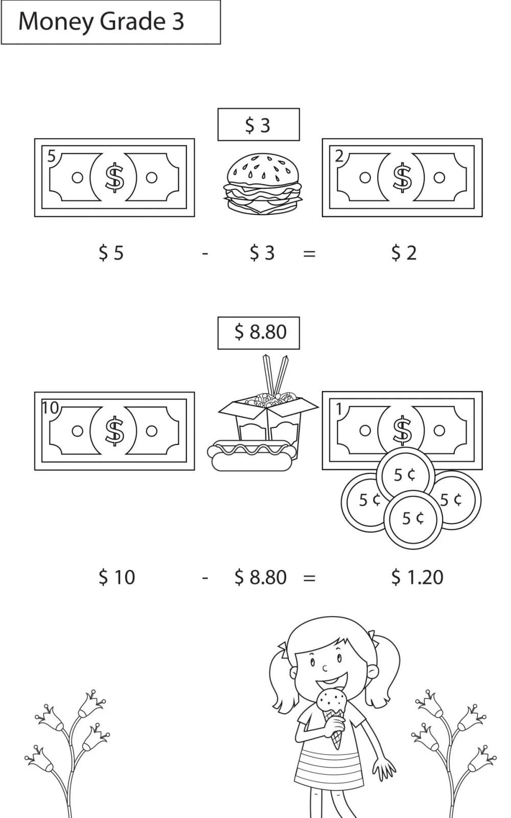 medium resolution of Money Worksheets Grade 3 I Maths - key2practice Workbooks