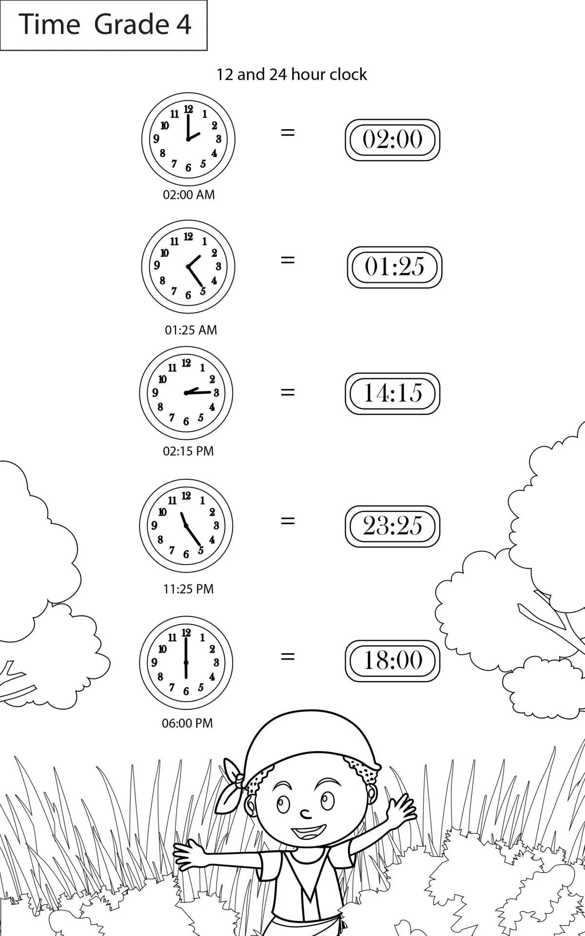 Time Worksheets Grade 4 I Maths - key2practice Workbooks [ 1920 x 1200 Pixel ]