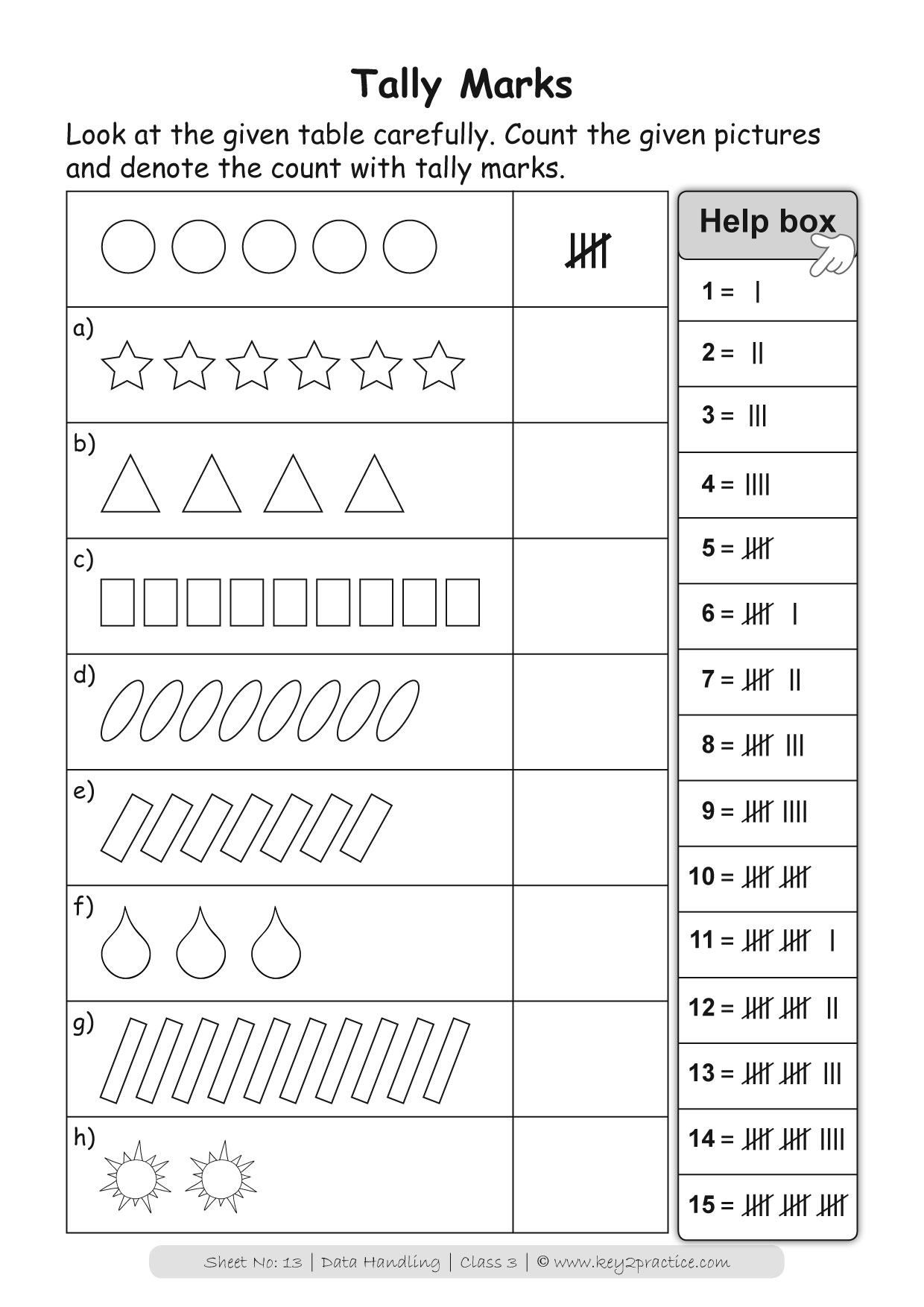 hight resolution of Bar Graph Grade 3 I Maths Worksheets - key2practice Workbooks