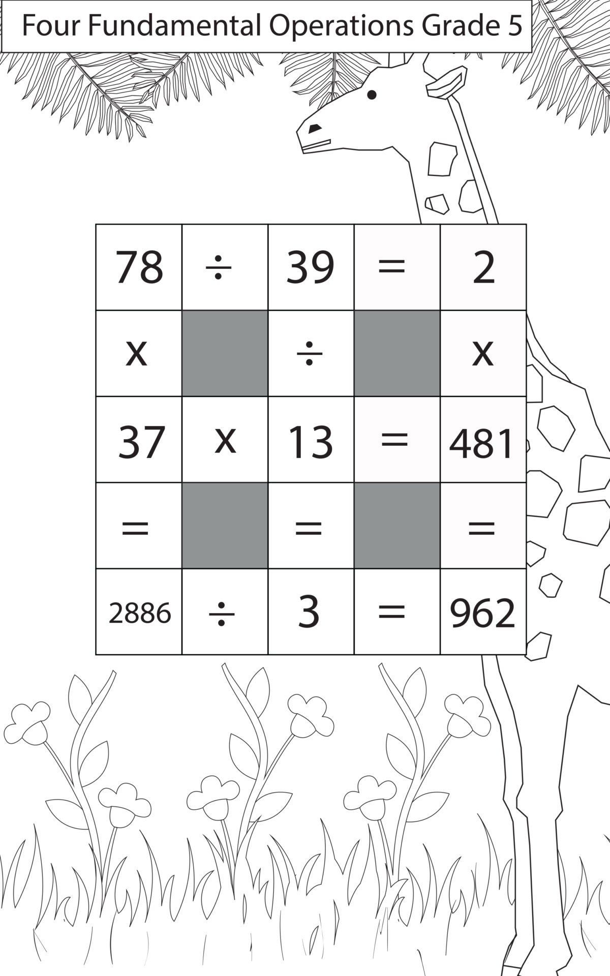hight resolution of Division Questions Class 5 Maths - key2practice Workbooks