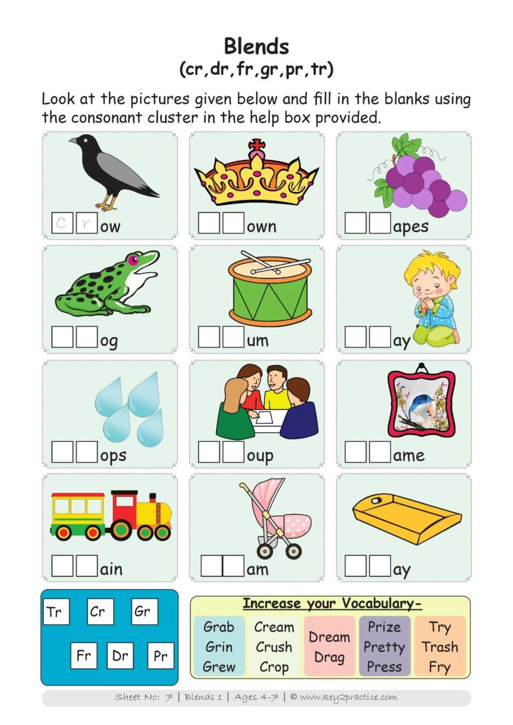 medium resolution of Worksheets I Phonics I English I Pre-primary - key2practice Workbooks