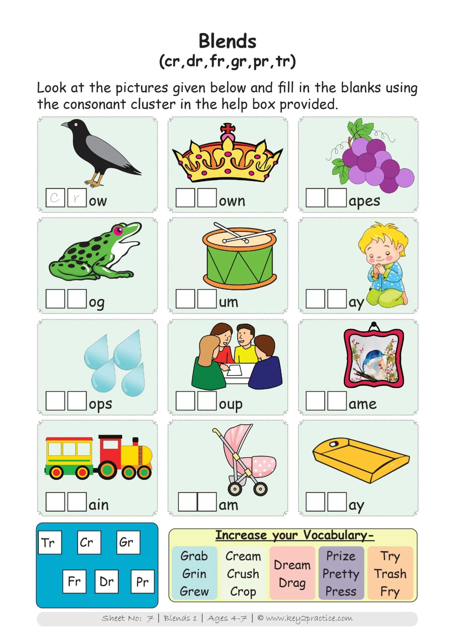 hight resolution of Worksheets I Phonics I English I Pre-primary - key2practice Workbooks