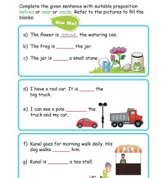 Grade 2 English worksheets Prepositions - key2practice Workbooks [ 1841 x 1327 Pixel ]