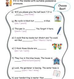 Pronouns worksheets Grade 2 I English - key2practice Workbooks [ 1841 x 1302 Pixel ]