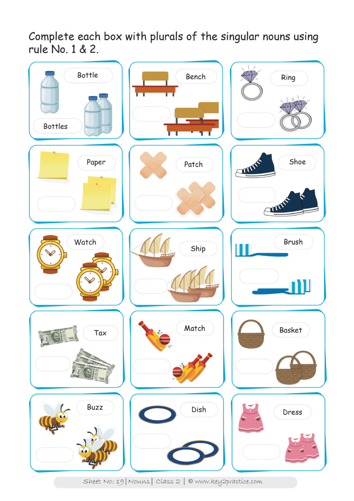 small resolution of Grade 2 Nouns worksheets I English - key2practice Workbooks