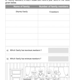 Data Handling Worksheets For Class 2   Printable Worksheets and Activities  for Teachers [ 2560 x 1810 Pixel ]