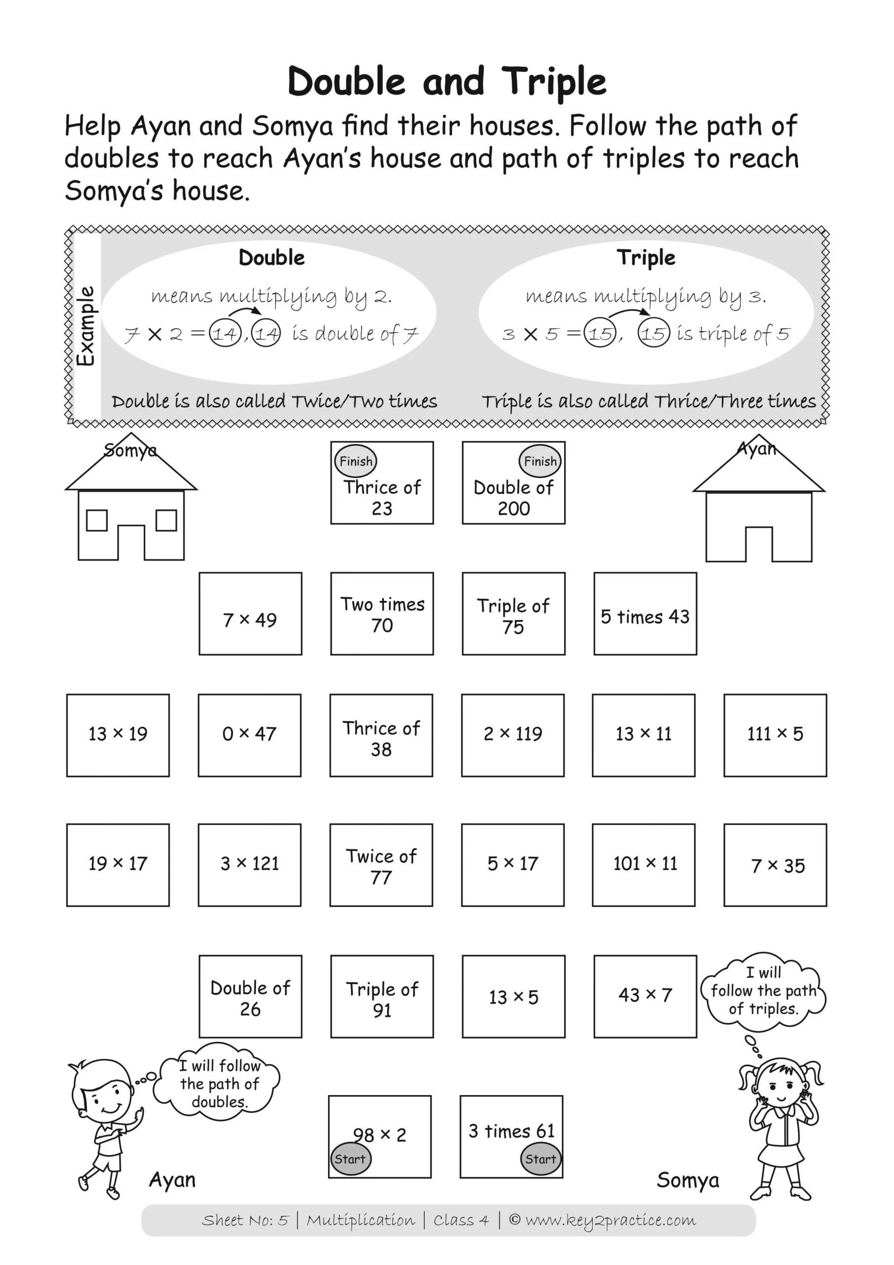 Pack Of 4 Maths Workbooks For Class 4 Multiplication