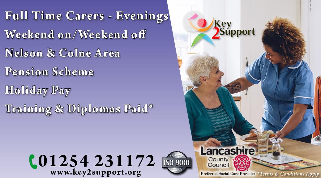 care job Nelson Colne evenings