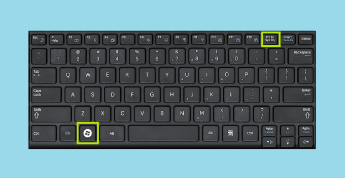 Windows Key + Print Screen to take screenshot