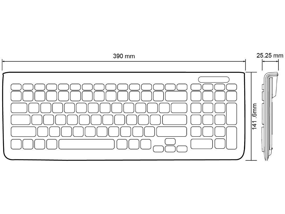 Piano Black Space Saver Keyboard : KBC-PERI-208B : The