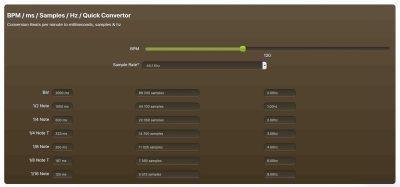 BPM Sample Hz Convertor