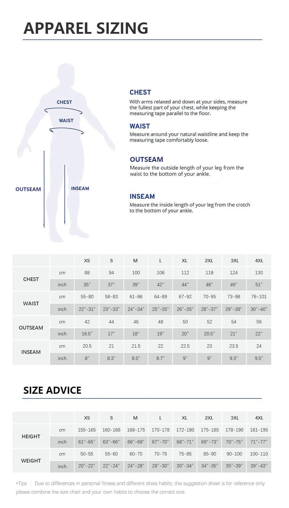 men short sleeve szie