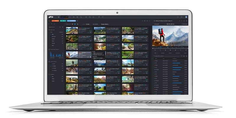 Avid MediaCentral Editorial Management on laptop
