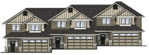 The townhomes coming to Ambrosia Court at McCormick Meadows feature double-car garages and a ground-level bonus room.