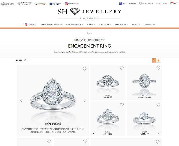 PHP Web Development for Premier Diamond Jewellery Store in