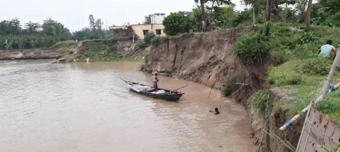Ganga erosion at farakka murshidabad