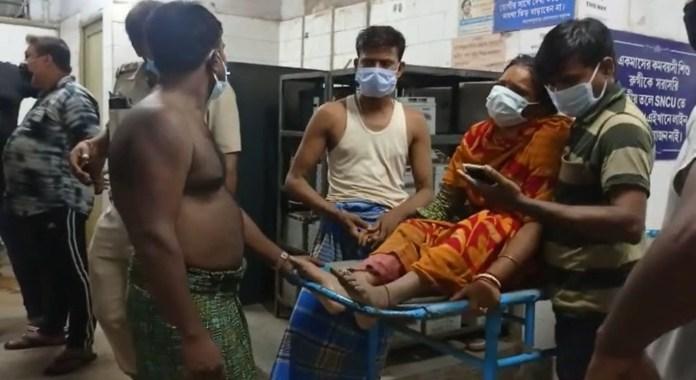 Police villager clash at asoknagar