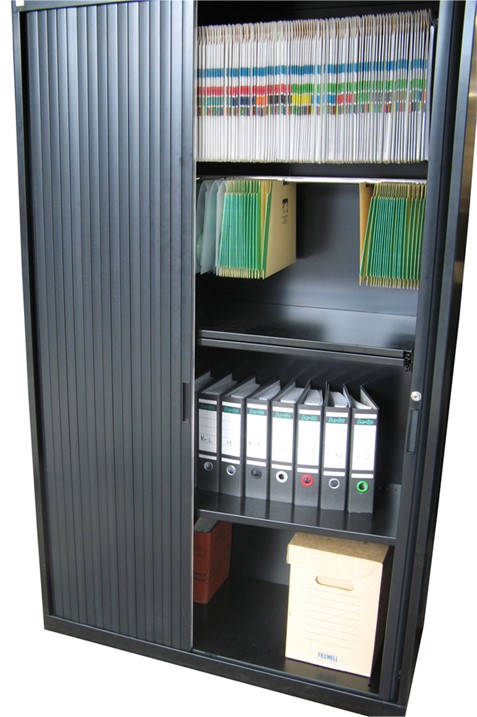 Metal Tambour Office Cupboards Brisbane  Keylar Shelving
