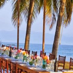Big Folding Chairs Revolving Easy Chair Long Tables Wedding Reception, Surprising Elegance & Intimacy - Key Largo Lighthouse Beach Weddings