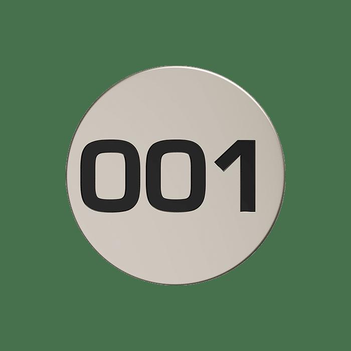 JEMI NUMBER DISC SATIN NICKEL CONTOUR 1
