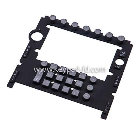 Silicone rubber membrane keypad