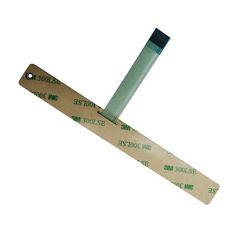 Custom 1*8 Matrix Membrane Keypad Poly Dome Tactile Membrane Switch