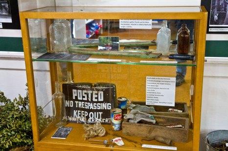 Key Peninsula Historical Society & Museum Cackleberries Humbleberries & Hooch Exhibit, Brush-picking artifacts