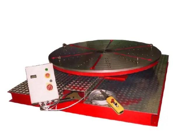 high speed welding floor turntable