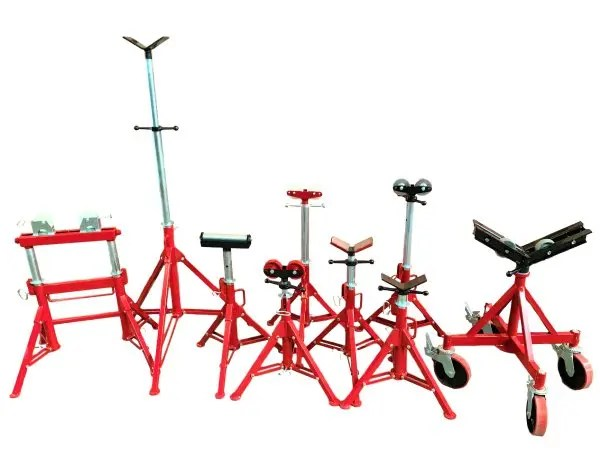 Pipe fabrication equipment - stands and supports
