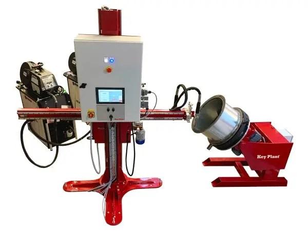 Pipe Segment weld process - FCS Flange Cladding System