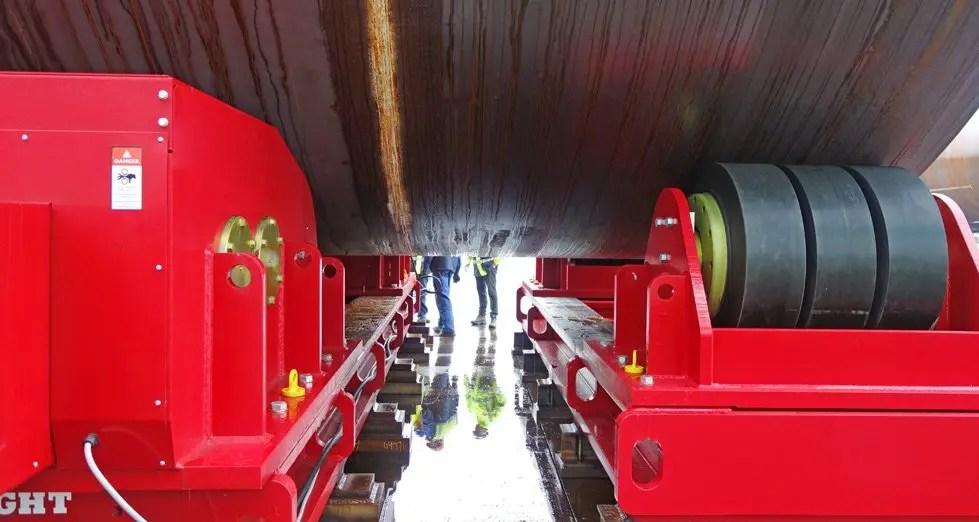 Polyurethane wheels for heavy duty welding rotator
