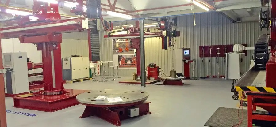 Key Plant research and development centre for welding automation
