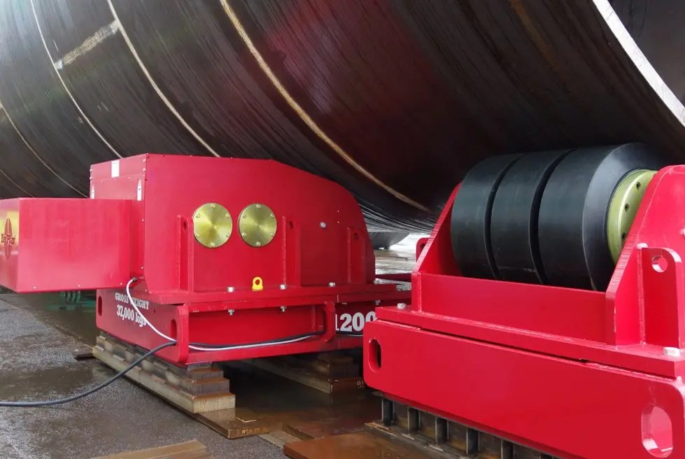 heavy roller bed turning rolls