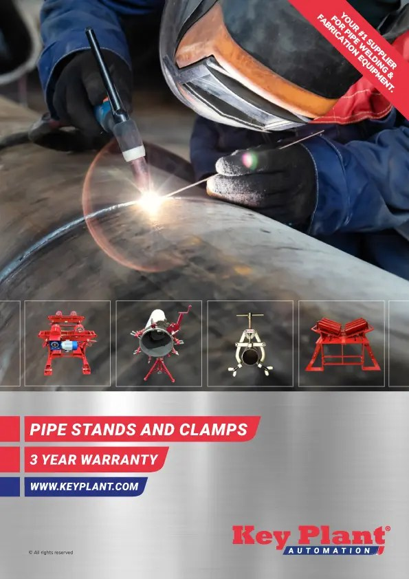pipe fabrication equipment - pipe stands, jacks, rollers and supports