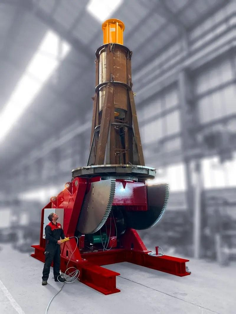 VP welding positioner load testing