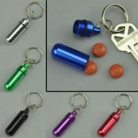 Pill Holder Keychain