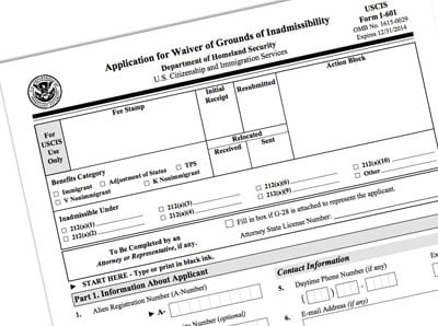 Form I-601A Provisional Unlawful Presence Waiver 2014