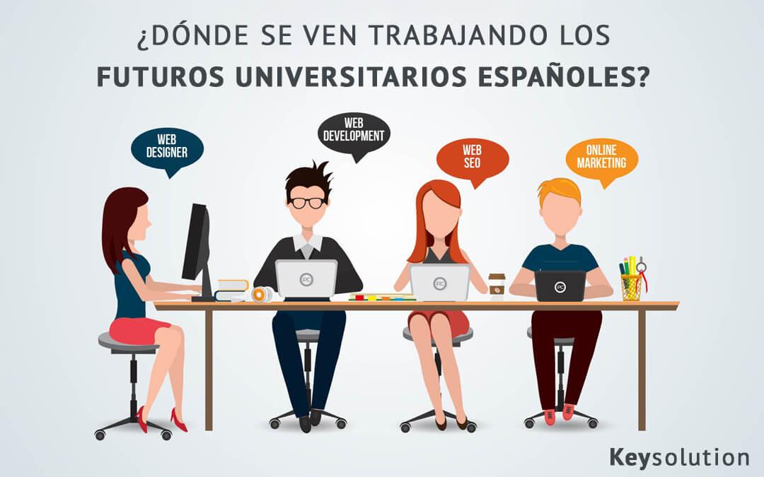 ¿Dónde se ven trabajando los futuros estudiantes universitarios?