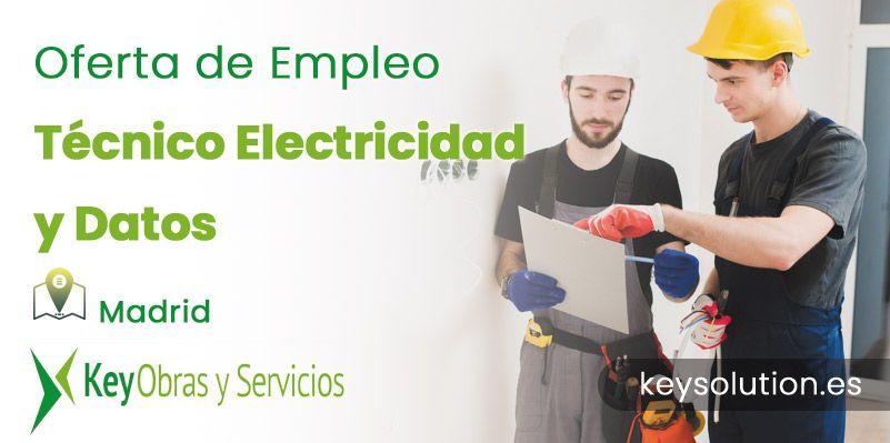 técnico electricidad y datos empleo madrid