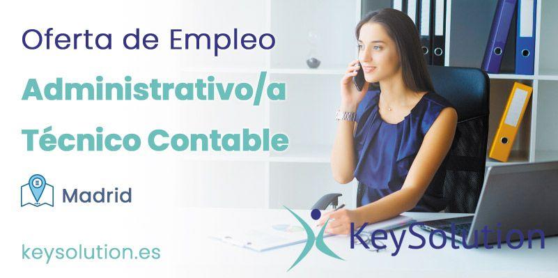 administrativo técnico contable empleo keysolution