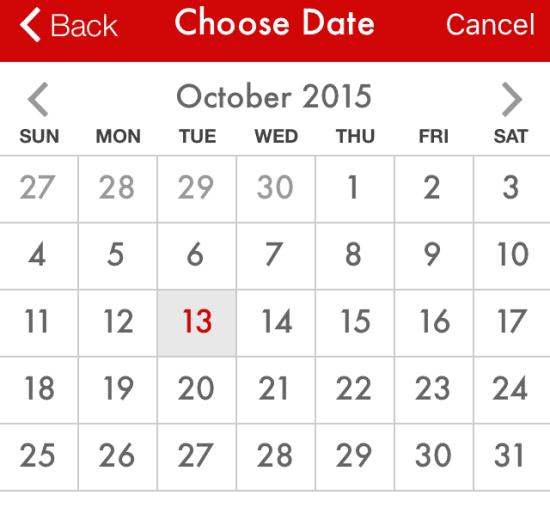 Paprika Choose Date View