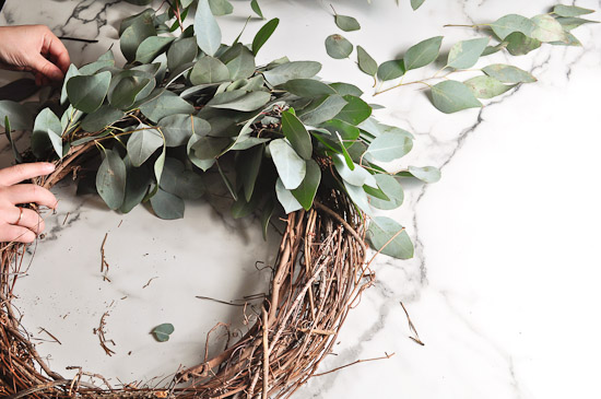 DIY Eucalyptus Wreath Tutorial-29