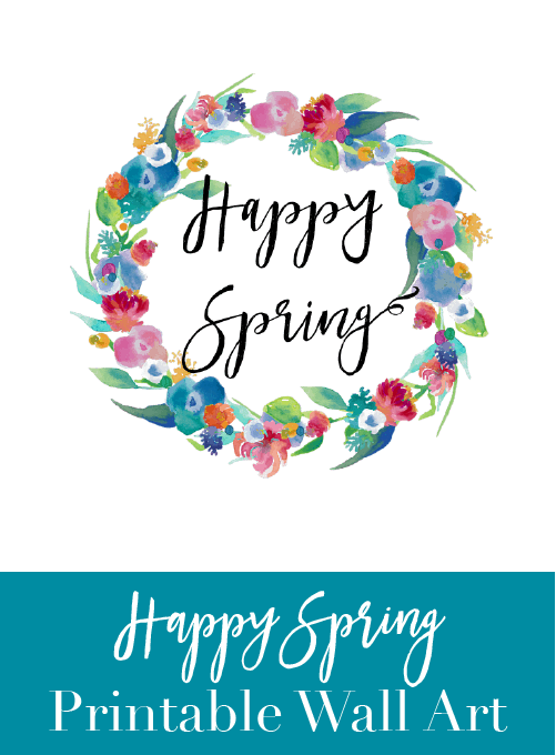 Happy Spring Wall Art {Free Printable} » Keys To Inspiration