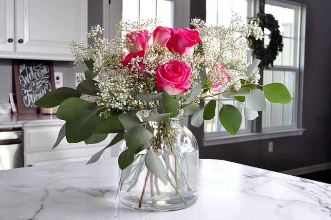 These flowers are so beautiful!!! This whole arrangement was under $15!