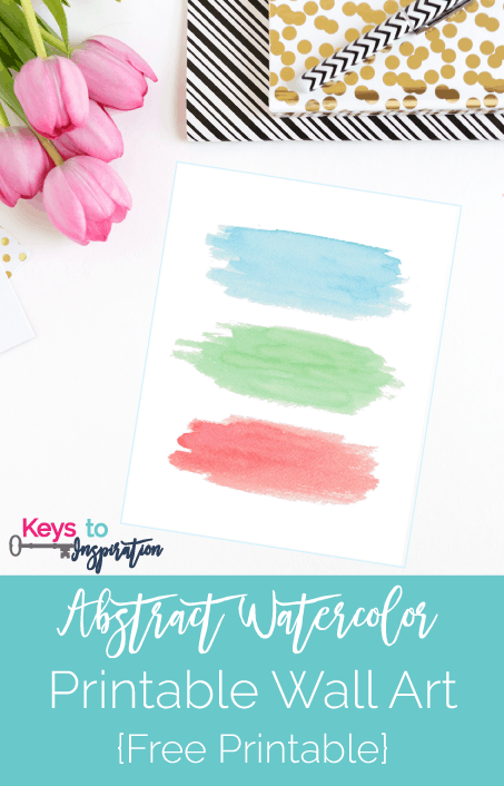 graphic relating to Watercolor Printable known as Summary Watercolor Printable Wall Artwork Free of charge Printable