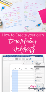 How to Create your own Time Blocking Worksheets {Free Printable}