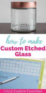 Cricut Explore Essentials: How to Make Custom Etched Glass